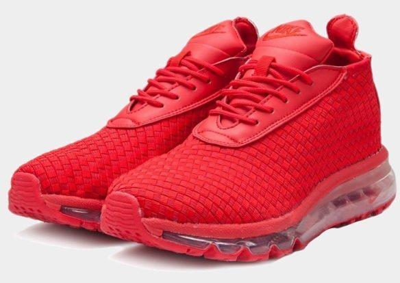 Фото Nike Air Max Woven Boot красные - 2