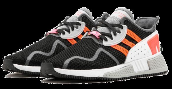 Фото Adidas EQT Cushion ADV черные с оранжевым - 1